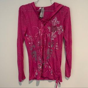New Pink Pepe Jeans long sleeve top
